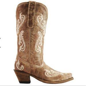 Corral  Cortez Fleur de Lis Distressed Boots